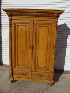 German Antique Pine Armoire Antique Wardrobe Cabinet Antique Furniture