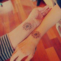 Tatuajes de amigas♦ #Mandalas♥