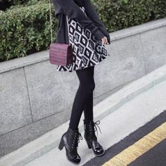Buy 'midnightCOCO – Patterned A-Line Knit Skirt' with Free International Shipping at YesStyle.com. Browse and shop for thousands of Asian fashion items from South Korea and more!