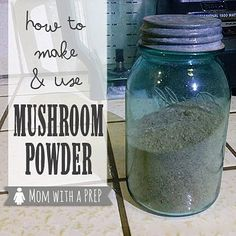 Bring the umami factor to your cooking and food storage with mushroom powder. You CAN do it yourself! MomwithaPREP shows you how!
