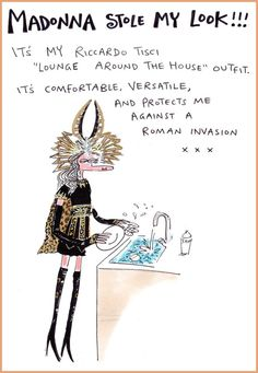Polly Bean's 'lounge around' look! Funny Fashion, Madonna, Supermodels, Cosplay, Style Inspiration, Givenchy, Outfits, Rococo, Illustration