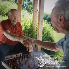 Age is beautiful! Age is a game with an old friend and not caring who wins because you're having too much fun. For more photos like this, check out our #Instagram page! #GoodSamaritanSociety  #agingwell