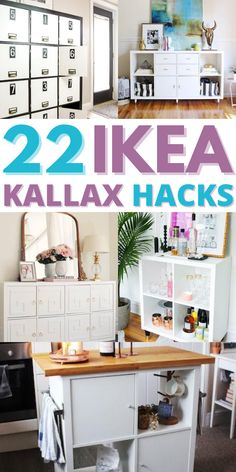 IKEA KALLAX doors DIY hacks - Are you looking for some cheap ways to organize your home? I have found some great IKEA Kallax hacks you can use to transform the look of your furniture and make it more functional and beautiful looking.
