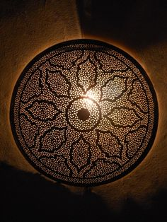 Outstanding moroccan wall sconce, light with its remarkable openwork pattern