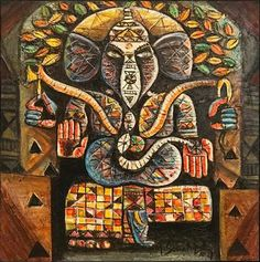 MyIndianArt: Online Art Gallery | Buy Indian Original Paintings, Artworks & Sculptures at Affordable Prices Ganesha Painting, Online Art Gallery, Artworks, Original Paintings, Sculptures, Indian, The Originals, Canvas, Stuff To Buy