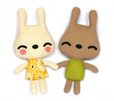 Bunny sewing pattern cloth doll pattern plush doll by DIYFluffies, $9.00