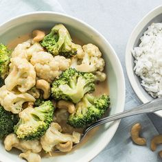 Bloemkool broccoli curry Vegetarian Recipes, Snack Recipes, Healthy Recipes, Snacks, Broccoli Curry, Cauliflower, Low Carb, Vegetables, Happy Healthy