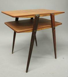 SOFFBORD MED TIDNINGSHYLLA TEAK RETRO 50/60-TAL på Tradera. Möbler  