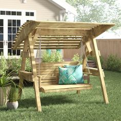 Wooden Swing Chair, Wooden Garden Swing, Garden Swing Seat, Wooden Arbor, Wooden Canopy, Wooden Swings, Swinging Chair, Arbor Bench, Bench Swing