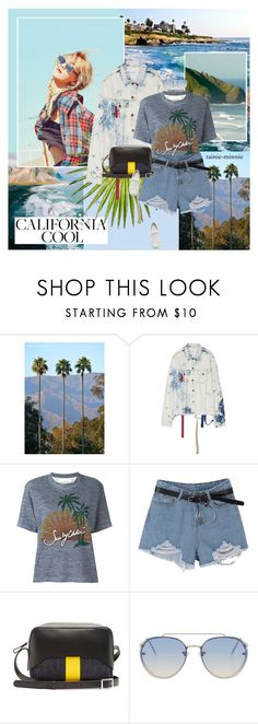 """California Cool ✈"" by rainie-minnie ❤ liked on Polyvore featuring See by Chloé, TIBI, Topshop and Santoni"