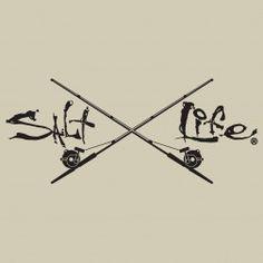 """Salt Life Signature /""""ORANGE/"""" UV Rated Vinyl medium 12inch DECAL"""