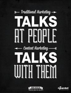 #SoTrue So many marketers are used to screening their message, when we are really entering an age or organic conversations.