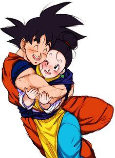 Goku and Chi Chi