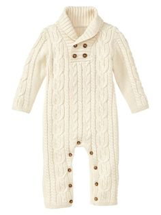 Gap | Cable one-piece  This is like Audrey's sweater from Baby Gap - very cute!