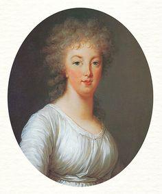 A posthumous portrait of Marie Antoinette, painted by her official painter Elisabeth Vigée Le Brun.
