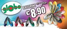 Glitter o Vernice? Scegli il colore della tua allegria con le coloratissime ballerine Tatoo, solo da Globo a €8,90!!!