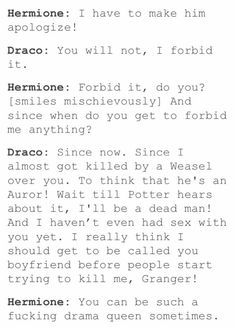 Draco and Hermione Harry Potter Puns, Harry Potter Ships, Harry Potter Fan Art, Dramione, Drarry, Harry Potter Hermione, Draco Malfoy, Bubbline, Mischief Managed