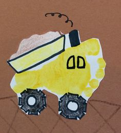 Dump Truck Foot Print Art