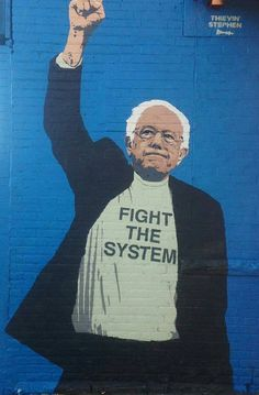 #WontBackDown Bernie Sanders Street Art #2178of2383 - #NAFTA vs #Glass_Steagall #union #occupy #BLM