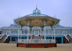 The bandstand and the conservatory. Both are beautiful. (At any rate ~ IMHO. Liverpool Town, Liverpool History, Liverpool England, Stanley Park, Gazebo, Travel Tips, Old Things, Outdoor Structures, Explore