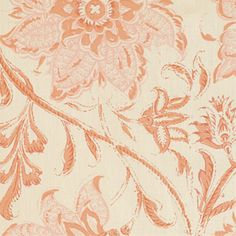 Palampore blossom-wallpaper/hand-blocked-paper/Indian pink (detail) - (soane)