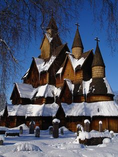 Telemark Norway ....This is the Heddal stave church in Notodden, Telemark. Joe and I were there and walked around the outside since it wasn't open at the time. It is the largest stave church in Norway and appeared to be in excellent condition. It was built in the beginning of the 13th century - that's in the 1200s!