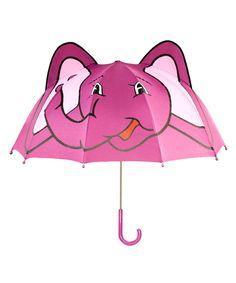 Pink Elephant Umbrella by Kidorable #zulily #zulilyfinds