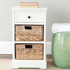 Nautical side table.  Bedside table?