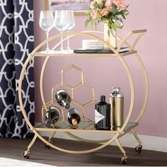 Find bar carts and other barware accessories at Wayfair. Enjoy shopping our vintage bar carts and everything in between! Diy Bar Cart, Gold Bar Cart, Bar Cart Decor, Bar Cart Styling, Plywood Furniture, Bar Furniture, Regency Furniture, Furniture Design, Chair Design