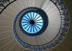English Renaissance decorative art tulip staircase
