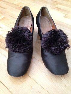 Vintage Margaret Jerrold Brown Satin Shoes with by SimplyAgain