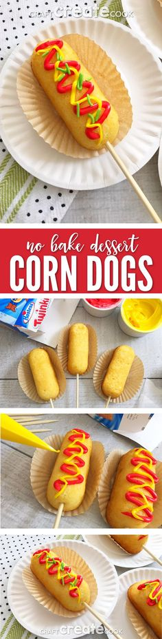 These Dessert Corn Dogs on a Stick are the perfect quick and easy treat.  via @CraftCreatCook1