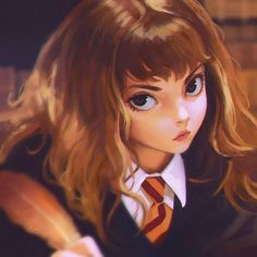 First Year Hermione Art by Ilya Kuvshinov / Russia-Japan http://kr0npr1nz.tumblr.com/