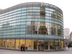 This is a picture of one of the many John Lewis Department stores in London, England. They are very modern and you are greeted by hosts with ipads who help you find things.