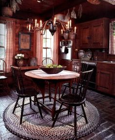 Love this cozy country kitchen