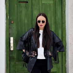Must have #jacket Fringe Leather Jacket, Must Haves, Jackets, Closet, Down Jackets, Armoire, Closets, Cupboard, Wardrobes