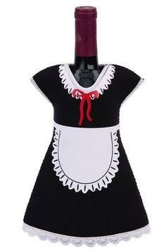 Custume Pary Maid Wine Bottle Jacket, Black by wine-bottle-jacket-maid. $9.29. *Made of high quality flexible neoprene material. *Perfect fun gift item for party or any occasion. *Dress up your wine bottles with our new insulated jackets. Cute and chic, this wine bottle jacket is sure to be a hit at any party! With an insulated interior designed to maintain temperature, it will help keep that bottle of wine cool and crisp. Hurry and get yours today because everybody knows...