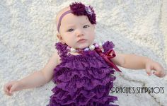 Alittletouchofgrace. Eggplant petti romper.dark purple. Newborn outfit.furst photos.fall baby outfit. Take me home set. Purple headband.Hey, I found this really awesome Etsy listing at https://www.etsy.com/listing/250290281/eggplant-purple-baby-outfit-purple-petti
