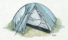 Adventure Photography, Tents, Outdoor Gear, Travelling, Illustration Art, Doodles, Sketches, Camping, Watercolor
