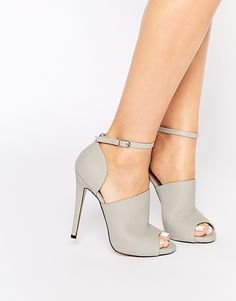 Truffle Collection Rita Mule Ankle Strap Heeled Shoes