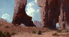 Desert trek, Jad Saber on ArtStation at https://www.artstation.com/artwork/mDEbd