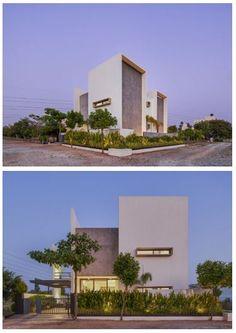 Concrete Finishes, India Design, Exposed Concrete, Facade Design, Gated Community, Open Floor, Skylight, Modern House Design, Design Process
