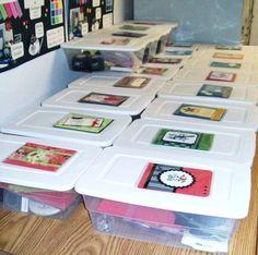Card Buffet !!!  from Linda Aahus of  polkadotsandpaper    Great idea