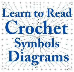 Learn to do crochet from Crochet Symbols Diagrams by JECKK