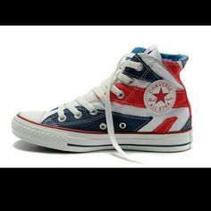 Converse UK flag high top Converse UK flag, I did wear them twice, but they are a little snug on me. Converse Shoes Sneakers