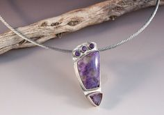 So pretty! Purple Charoite and Amethyst OOAK Necklace by SageHenDesign, $85.00