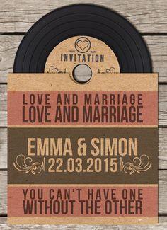 En forma de disco... #invitaciones #boda