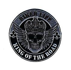 Embroidered Iron On Patch - Biker Life King Of The Road S... http://www.amazon.com/dp/B01ENOI5XM/ref=cm_sw_r_pi_dp_-L3hxb0569X6E #irononpatch #bikerstuff #bikerpatches #motorcyclestuff #bikerlife #kingoftheroad #skull