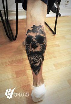 Skull Rose Tattoo by Eduardo Fernandes