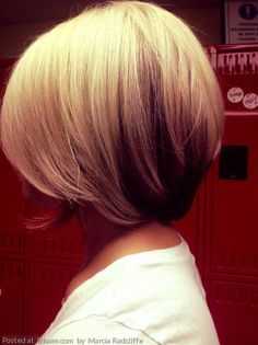 A perfect chic bob with low lights. By Marcia Radcliffe.